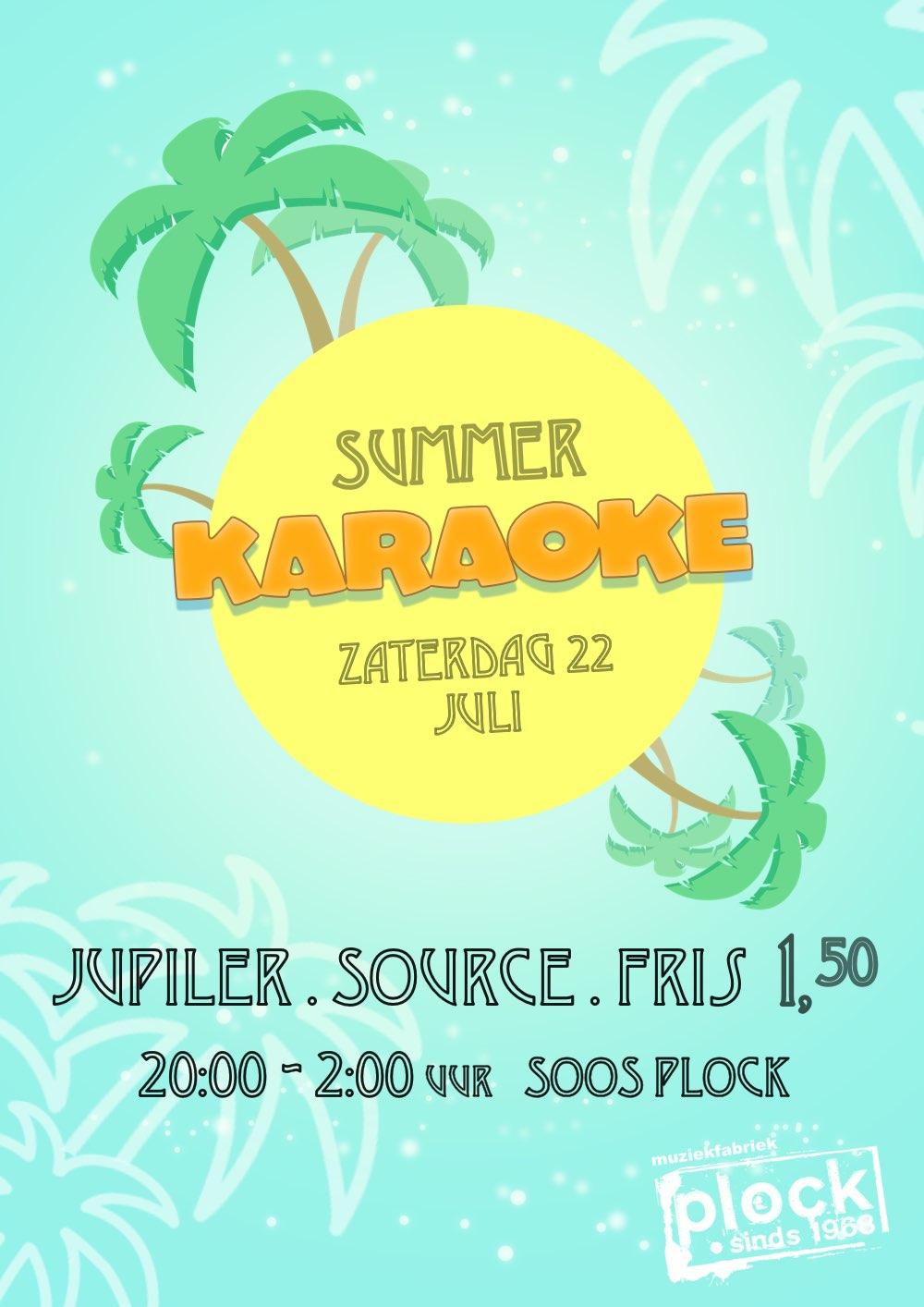 Summer  Karaoke 22-juli '17